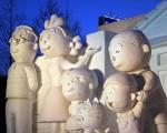 Саппоро фестиваль снежных скульптур 3