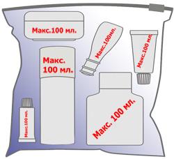 Перевозка косметики в ручной клади в самолете