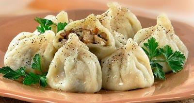 Хинкали - популярное в Грузии блюдо